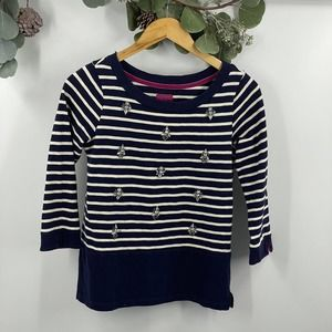 Joules | Bejeweled Striped Sweater, 6